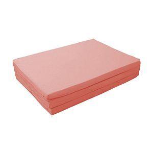 マットレス セミダブル【厚さ6cm】ローズピンク 新20色 厚さが選べるバランス三つ折りマットレス - 拡大画像