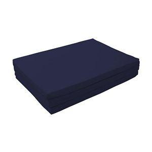 マットレス ダブル【厚さ6cm】ミッドナイトブルー 新20色 厚さが選べるバランス三つ折りマットレス - 拡大画像