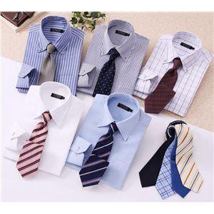 ワイシャツ14点セット LL デザイナーズセレクト ドゥエボットーニ【ブルーシャツ】14点セット - 拡大画像