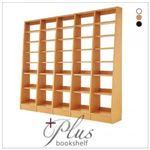 本棚・連結棚セット【+Plus】ダークブラウン 無限横連結本棚【+Plus】プラス 本体+横連結棚4体 セット