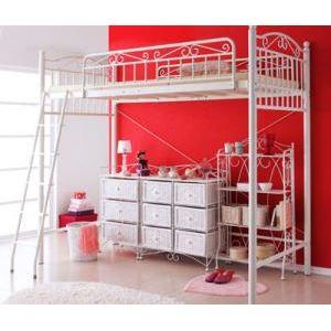 ロフトベッド【Mary】ピンク 高さが選べる!ロマンティックアイアンロフトベッド【Mary】マリー/ハイタイプ - 拡大画像
