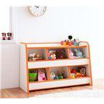 ソフト素材キッズファニチャーシリーズ おもちゃBOX【piccolo】ピッコロ (カラー:オレンジ)