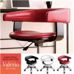 チェア【Valerio】レッド モダンデザインオフィスチェア/デスクチェア【Valerio】ヴァレリオ