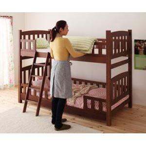 2段ベッド ブラウン 天然木コンパクト分割式2段ベッド【fine】ファイン - 拡大画像