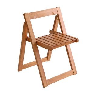 【テーブルなし】チェア2脚セット【kippis!】ナチュラル 天然木バタフライ伸長式収納ダイニング【kippis!】キッピス 折りたたみチェア(2脚組)