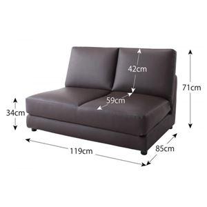 ソファーベッド 幅120cm【Cleobury】アイボリー デザインソファベッド【Cleobury】クレバリーのサイズ1