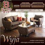 ソファーセット テーブルBセット「2人掛け+3人掛け+テーブル」【Wyja】ウォーターヒヤシンスシリーズ 【Wyja】ウィージャ ソファセット