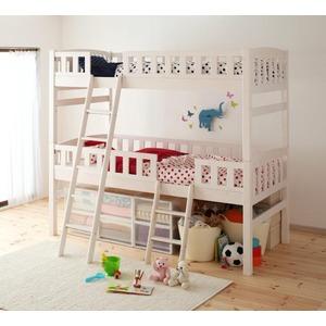 2段ベッド【Pacio】ホワイトウォッシュ 収納ができる天然木分割式2段ベッド【Pacio】パシオ - 拡大画像
