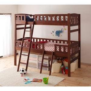 2段ベッド ブラウン 収納ができる天然木分割式2段ベッド【Pacio】パシオ - 拡大画像