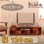 ローボード(テレビ台/テレビボード) 幅120cm 天然木北欧デザインテレビボード【Bisca】ビスカ
