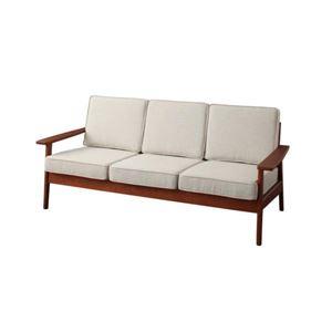 ソファー 3人掛け グレー 天然木シンプルデザインソファ【RUS】ラスの詳細を見る