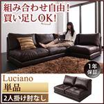 ソファー 2人掛け【Luciano】ダークブラウン モジュールローソファ【Luciano】ルチアーノ 肘なし