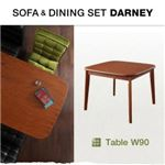 【単品】テーブル ウォールナット【DARNEY】ダーニー/テーブル(W90cm)