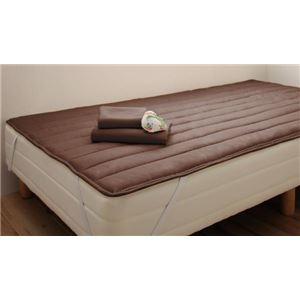 脚付きマットレスベッド シングル 脚15cm モカブラウン 新・ショート丈ポケットコイルマットレスベッド - 拡大画像