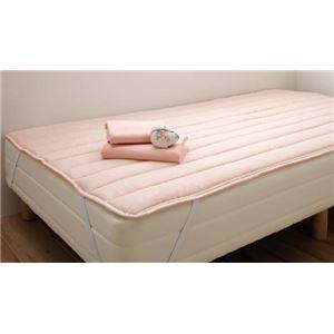脚付きマットレスベッド セミシングル 脚22cm さくら 新・ショート丈ポケットコイルマットレスベッド - 拡大画像