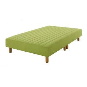 脚付きマットレスベッド セミダブル 脚15cm モスグリーン 新・色・寝心地が選べる!20色カバーリングポケットコイルマットレスベッド - 拡大画像