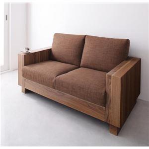 ソファー 2人掛け ブラウン デザインソファ【ANSELM】アンセルムの詳細を見る