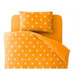 布団カバーセット 3点セット【和式用】シングル 柄:ドット カラー:オレンジ 32色柄から選べるスーパーマイクロフリースカバーシリーズ