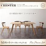 ダイニングセット 5点セット【Chester】アンティーク調ウィンザーチェアダイニング【Chester】チェスター