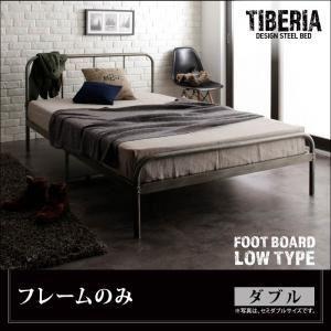ベッド ダブル フッドロー【Tiberia】【フレームのみ】フレームカラー:シルバーアッシュ デザインスチールベッド【Tiberia】ティベリア - 拡大画像