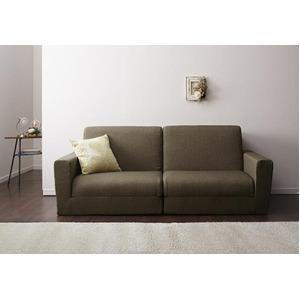 ソファーベッド 190cm【Ceuta】ブラウン ポケットコイルで快適快眠ゆったり寝られるデザインソファベッド【Ceuta】セウタ - 拡大画像
