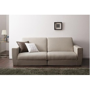 ソファーベッド 190cm【Ceuta】ベージュ ポケットコイルで快適快眠ゆったり寝られるデザインソファベッド【Ceuta】セウタ
