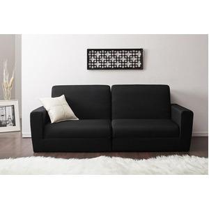 ソファーベッド 190cm【Ceuta】ブラック ポケットコイルで快適快眠ゆったり寝られるデザインソファベッド【Ceuta】セウタ - 拡大画像