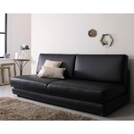 ソファーベッド 幅180cm ブラック ふたり寝られるモダンデザインソファベッド Nivelles ニヴェル