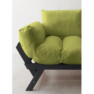 ソファー 2.5人掛け 座面カラー:モスグリーン フレームカラー:ダークブラウン 北欧デザイン天然木フレームソファ Lapua ラプア - 拡大画像