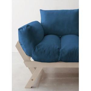 ソファー 2.5人掛け 座面カラー:ネイビー フレームカラー:ホワイト 北欧デザイン天然木フレームソファ Lapua ラプアの詳細を見る