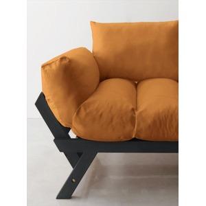 ソファー 2.5人掛け 座面カラー:オレンジ フレームカラー:ダークブラウン 北欧デザイン天然木フレームソファ Lapua ラプアの詳細を見る