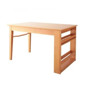 【単品】ダイニングテーブル 幅120-180cm 3段階伸縮 収納ラック付き エクステンションダイニング Delight ディライト