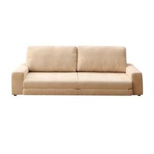 ソファー 3人掛け アイボリー 座面が広がる カウチになるフロアソファ Rouille ルイエの詳細を見る
