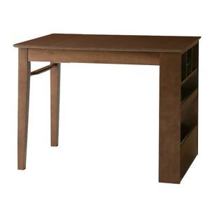 【テーブルのみ】ダイニングテーブル 幅100-135cm テーブルカラー:カフェブラウン 100cmから伸びる コンパクトエクステンションダイニング popon ポポン