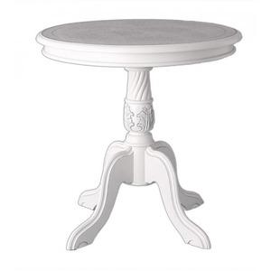 【単品】クラシックテーブル 直径60cm カラー:ホワイト アンティーク調クラシックリビングシリーズ Francoise フランソワーズ