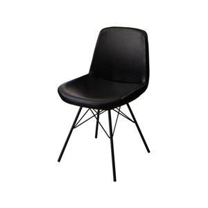 【テーブルなし】チェア(1脚) 座面カラー:ブラック ヴィンテージデザインダイニング volet ヴォレ - 拡大画像