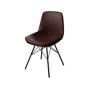 【テーブルなし】チェア(1脚) 座面カラー:ブラウン ヴィンテージデザインダイニング volet ヴォレ - 拡大画像