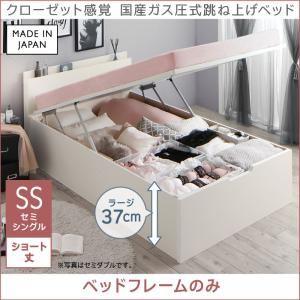 ショート丈クローゼット感覚ガス圧式跳ね上げベッド aimable エマーブル