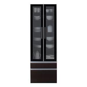 食器棚 幅60cm カラー:ウォルナットブラウン 完成品 大型レンジ対応 女性目線でデザインされたおしゃれキッチン収納 Aina アイナ