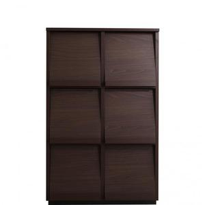 フラップチェスト【2列3段】メインカラー:ブラウン 低めで揃える壁面収納シリーズ Flip side フリップサイド