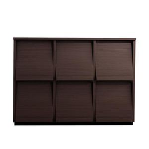 フラップチェスト【3列2段】メインカラー:ブラウン 低めで揃える壁面収納シリーズ Flip side フリップサイド