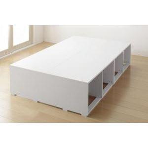 収納ベッド ハイタイプ セミダブル 引き出しなし【フレームのみ】フレームカラー:ホワイト 布団で寝られる大容量収納ベッド Semper センペール - 拡大画像