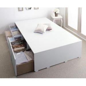 収納ベッド ハイタイプ シングル 引出し2杯【フレームのみ】フレームカラー:ホワイト 布団で寝られる大容量収納ベッド Semper センペール - 拡大画像