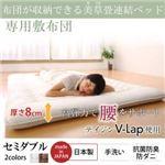 専用別売品  収納ベッド セミダブル 寝具カラー:アイボリー 布団が収納できる・美草・小上がり畳連結ベッド(敷布団)
