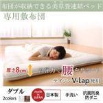 専用別売品  収納ベッド ダブル 寝具カラー:アイボリー 布団が収納できる・美草・小上がり畳連結ベッド(敷布団)