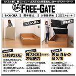 おすすめ すのこベッド 棚・コンセント ガス圧式大容量収納跳ね上げベッド Free-Gate フリーゲート