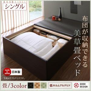 お客様組立 ベッド シングル 【フレームのみ】 フレームカラー:ダークブラウン 畳カラー:ブラウン お客様組立 布団が収納できる・美草・小上がり畳ベッド