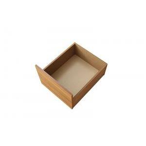 【本体別売】 引出し2杯 ロータイプ カラー:ブラック 布団で寝られる大容量収納ベッド Semper センペール 専用別売品