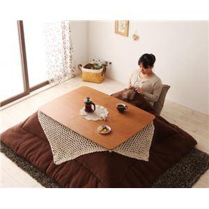 【単品】こたつテーブル 長方形(120×80cm)【Milkki】チェリーブラウン 天然木チェリー材 北欧デザインこたつテーブル 【Milkki】ミルッキ