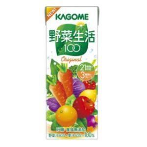 カゴメ 野菜生活100 紙パック200ml オリジナル 72本セット - 拡大画像